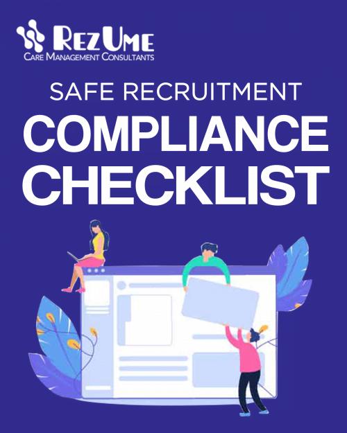 Children's homes safer recruitment checklist