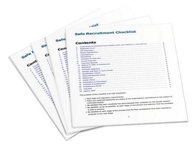 Safe Recruitment Checklist