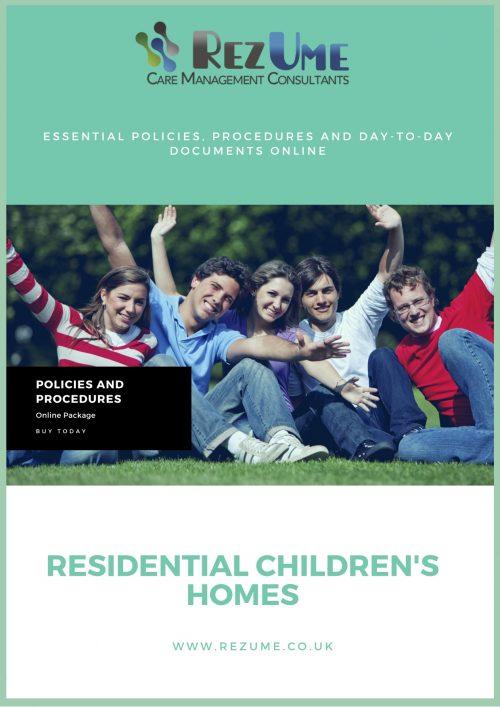 Children's Homes Policies and Procedures