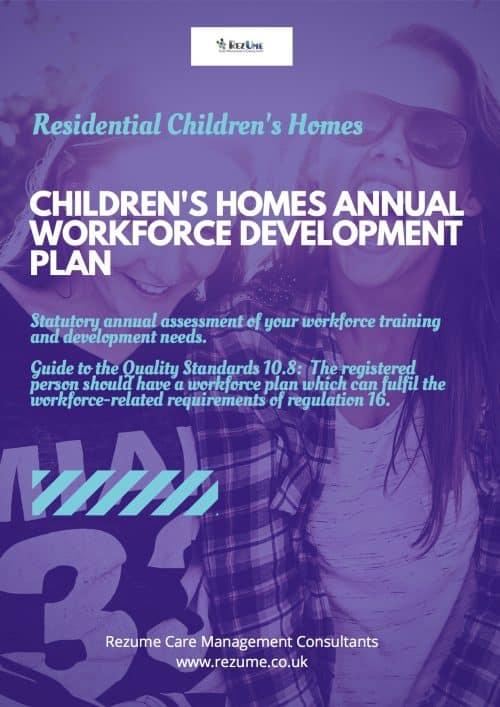 Workforce development plan children's homes