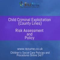 Child Criminal Exploitation Policy