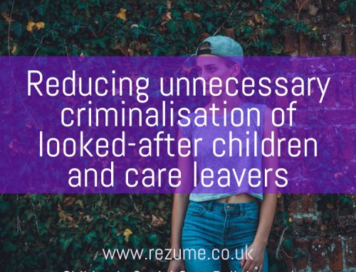 National protocol for reducing unnecessary criminalisation of looked-after children and care leavers