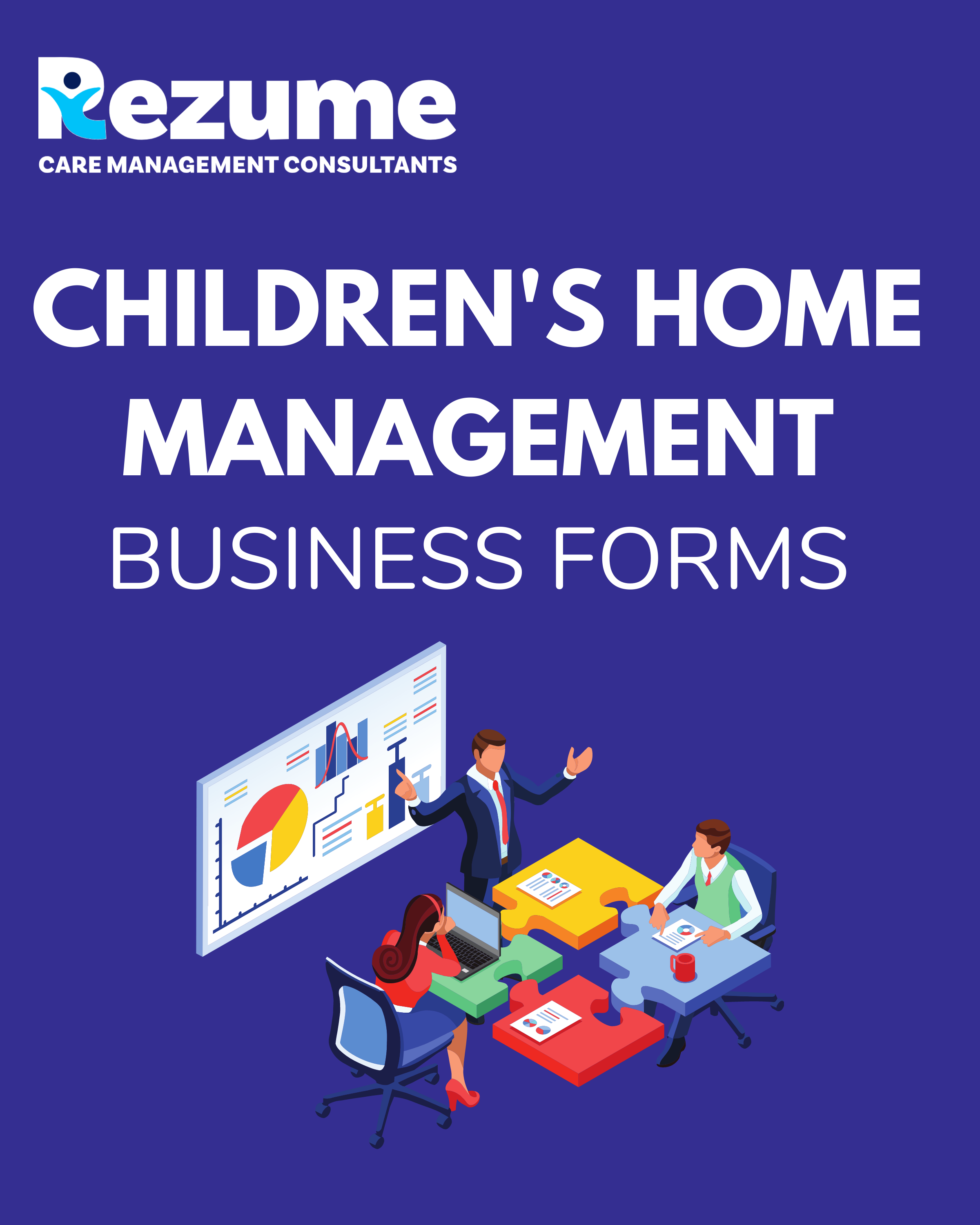 Children's home care management business forms