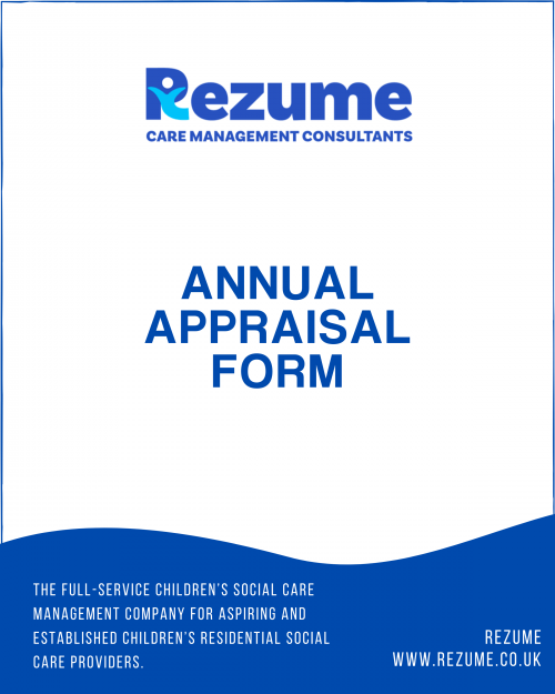 Children's Home Staff Annual Appraisal Form
