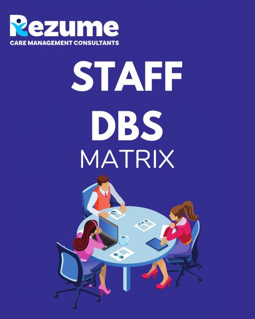 Staff DBS recording form