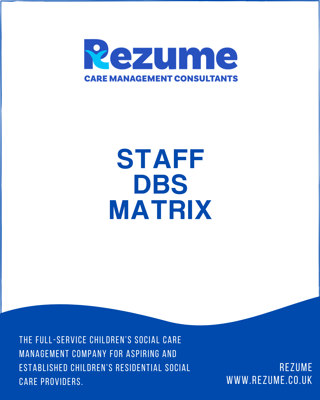 Staff DBS Form