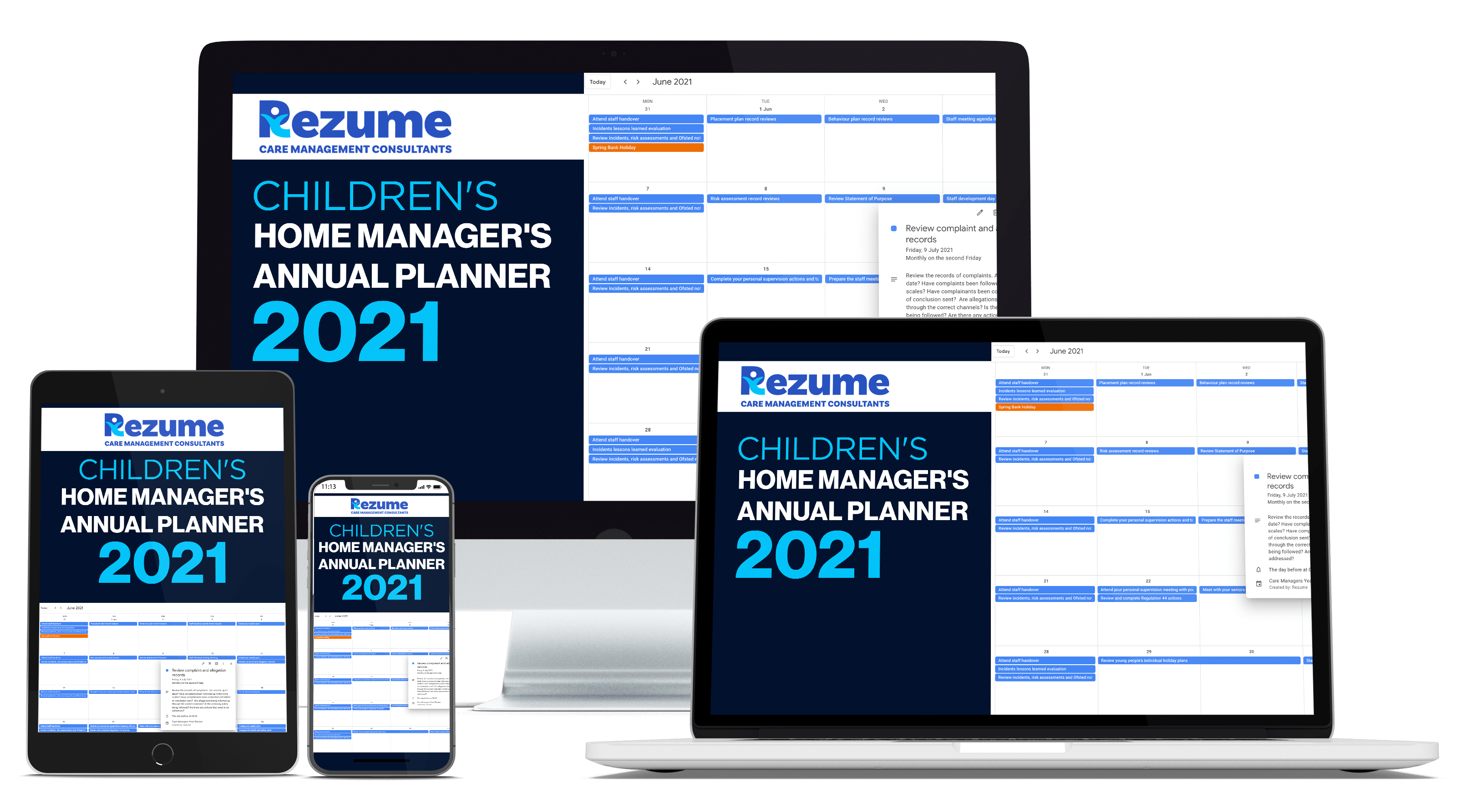 Children's home manager annual planner