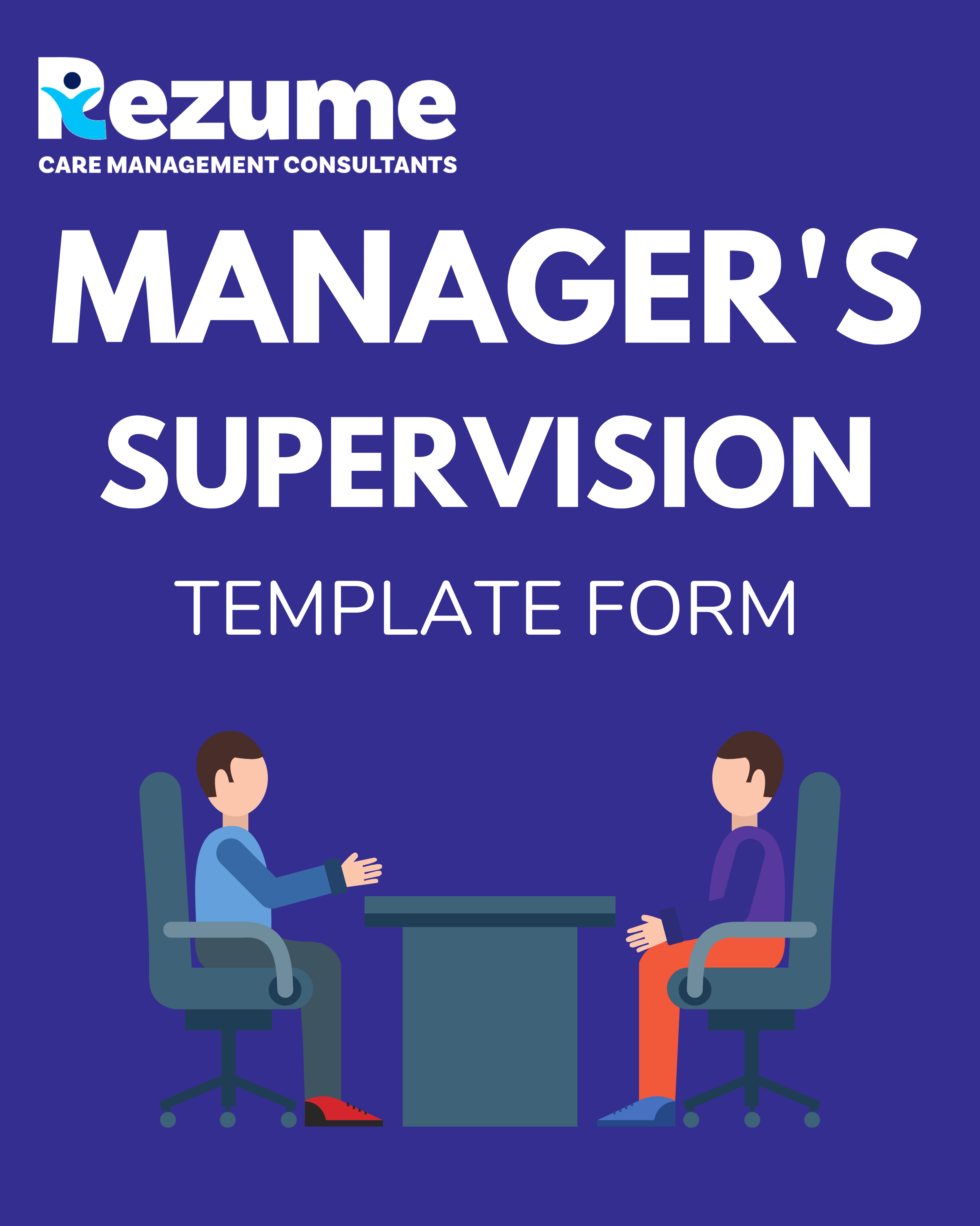 Children's home manager supervision form