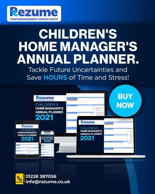 Children's Home Manager's Annual Planner