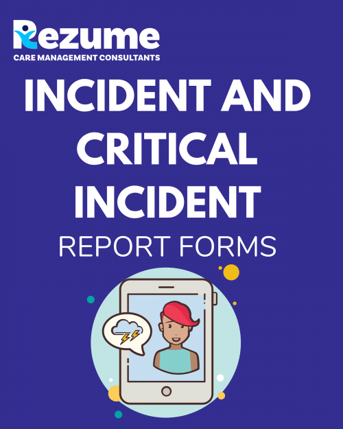 Incident and Critical Incident Report Forms
