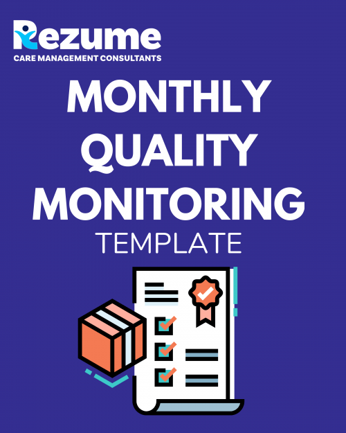 Monthly Quality Monitoring Template