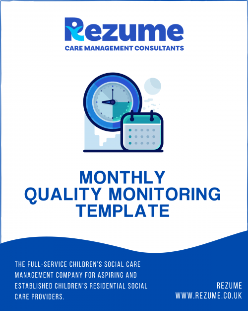 Children's Homes Quality Monitoring Template
