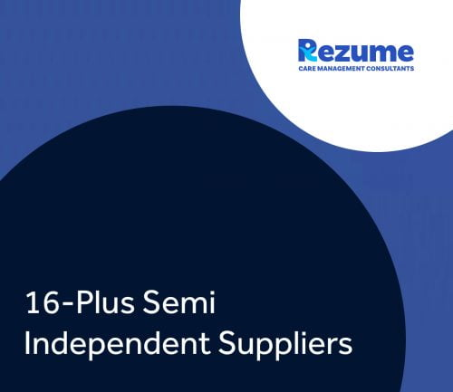 16-Plus Semi Independent Providers
