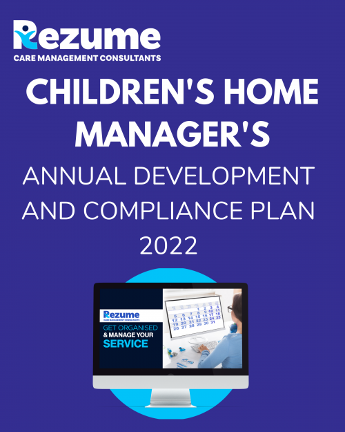 Children's Home Manager Annual Development and Compliance Plan